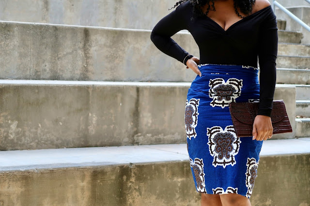 Ankara Blue Skirt