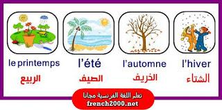 Les  saisons et les mois de l'année  فصول السنة والشهور
