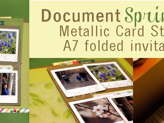 Documenting Spring with Metallic Card Stock & Hidden Journaling
