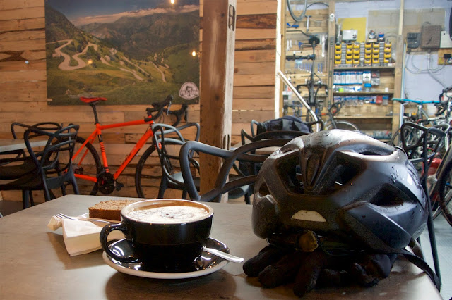 coffee at the velo barn