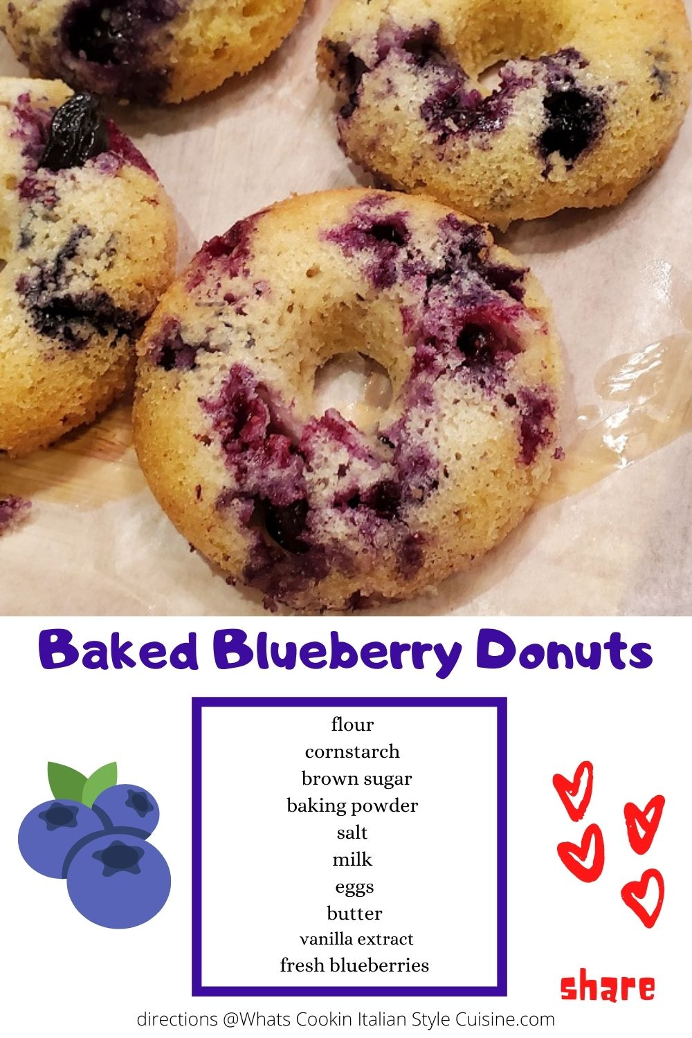pin for later blueberry donuts