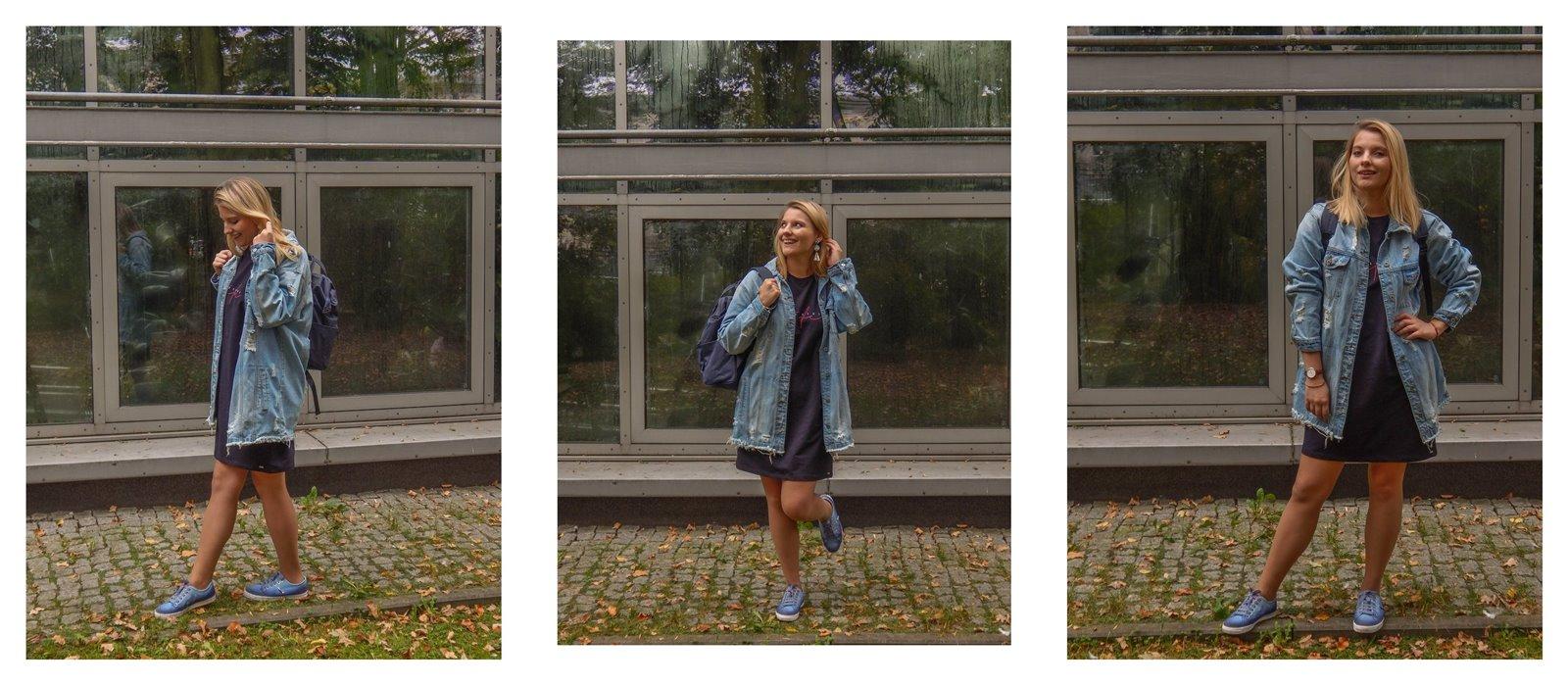 2A volcano sportowe sukienki dla dorosłych dzieci jesienne stylizacje do pracy do szkoły na uczelnię blondynka blog łódź moda styl lifestyle blogerki z łodzi współpraca blog pasja