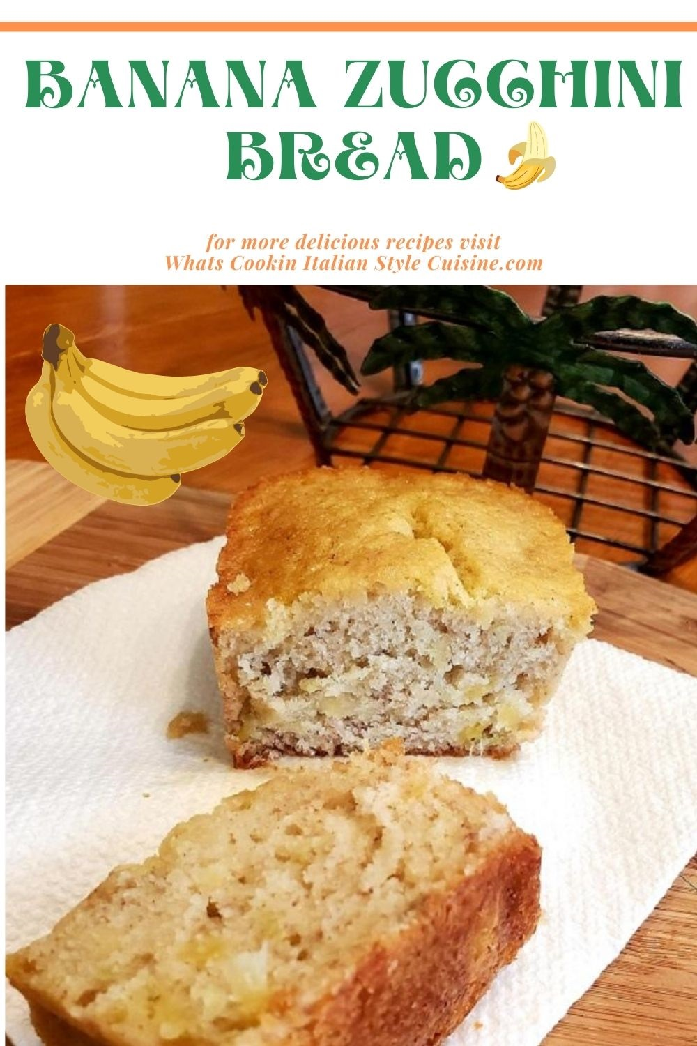 this is a pin for later on how to make Banana Zucchini Bread