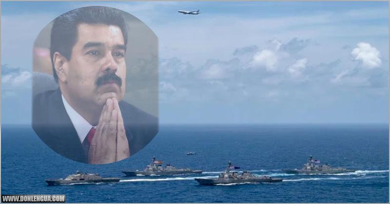 Cuatro navíos destructores americanos pasan por el Caribe y dejan a Maduro sin dormir