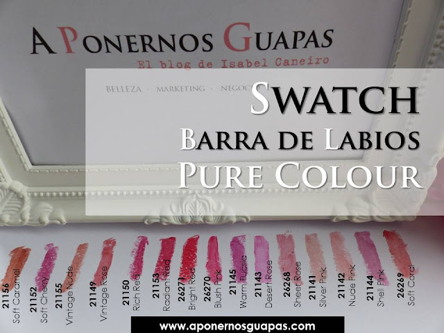 Swatch Barra de Labios Pure Colour Oriflame