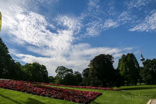 Luisenpark Mannheim und Wolken