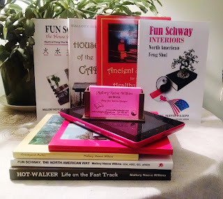 Mallorys Novels, non fiction, feng shui, journals, photography books