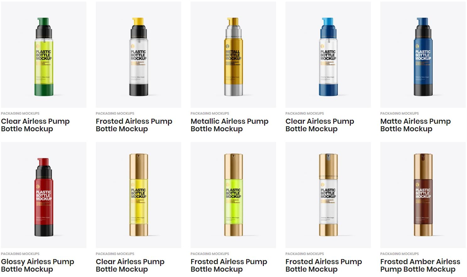 Download 100 Best Airless Bottle Mockup Templates Free Premium PSD Mockup Templates