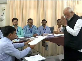 PM Narendra Modi Files Nomination Varanasi Uttar Pradesh