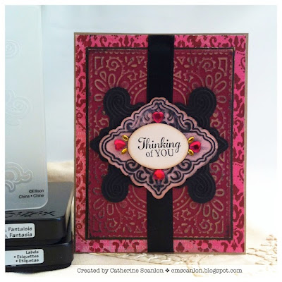 Thinking of You card by Catherine Scanlon for Sizzix