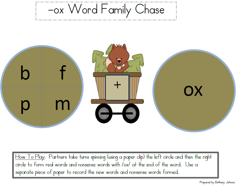 Family Of Educators Word Family Ox