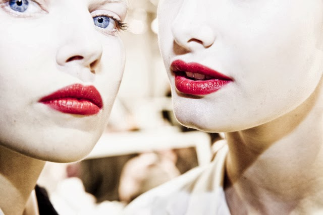 Backstage Christian Dior Fashion Week beauty