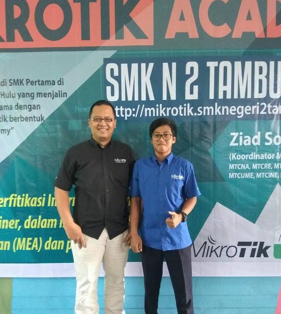 Peresmian dan Workshop Mikrotik Academy SMK Negeri 2 Tambusai Utara Tahun 201751