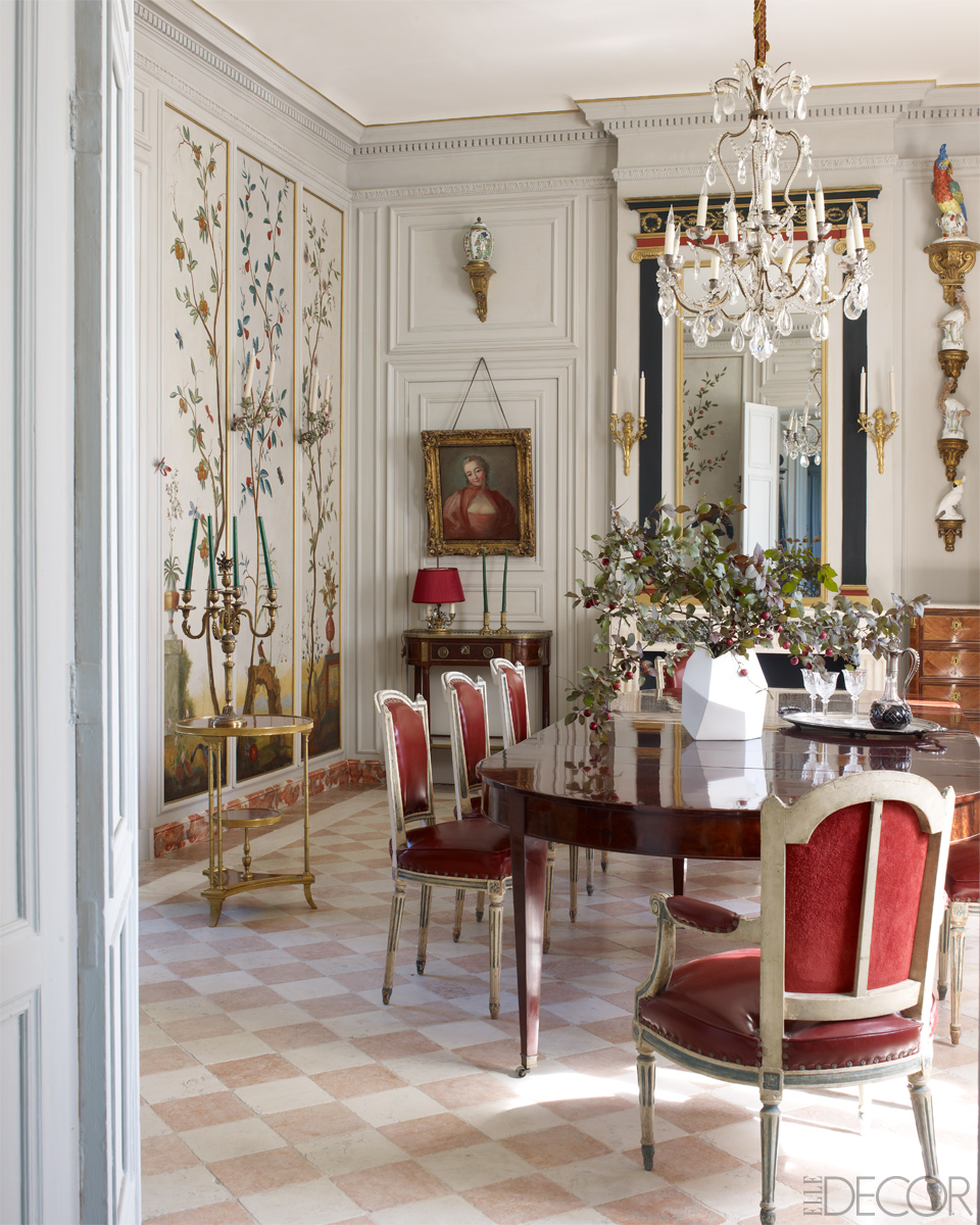 Dining Rooms From Elle Decor: Loveisspeed.......: CROWNING ACHIEVEMENT A Grand But Faded
