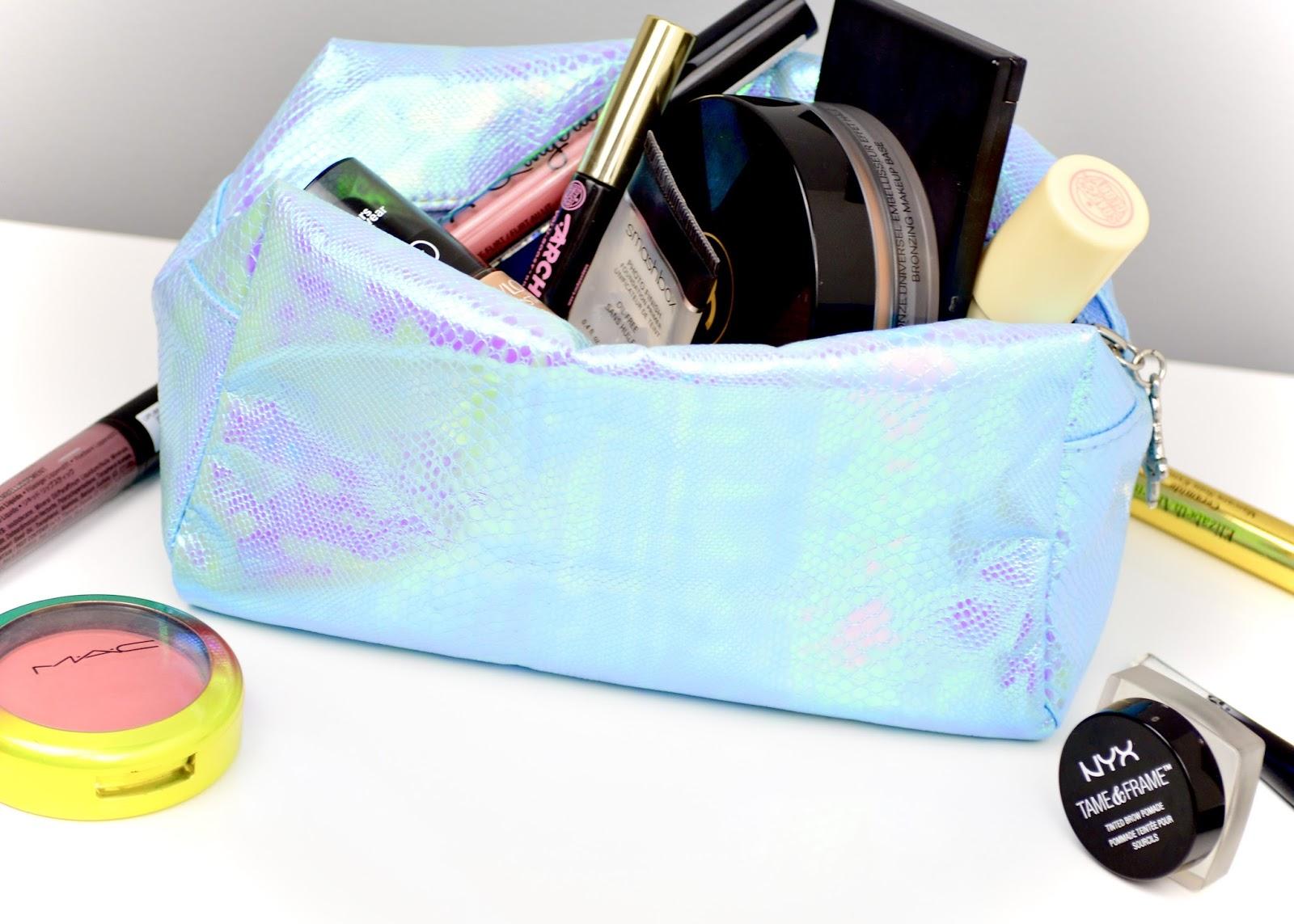 Makeup Makeup Bag, Lipstick, Nude Lip, Blush, Eyebrows, Brows, Everyday Makeup Bag, Makeup Look, Primark Makeup Bag, NYX, Mac, Velvet Teddy, Lancome, Chanel