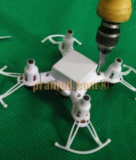 cara bongkar casing drone syma X12S