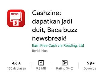 Cashzine: dapatkan jadi duit, Baca buzz newsbreak
