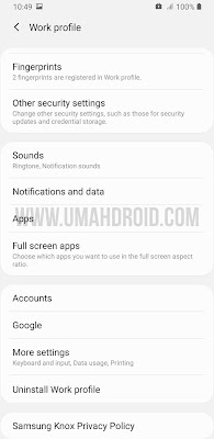 Samsung Work Profile Uninstall