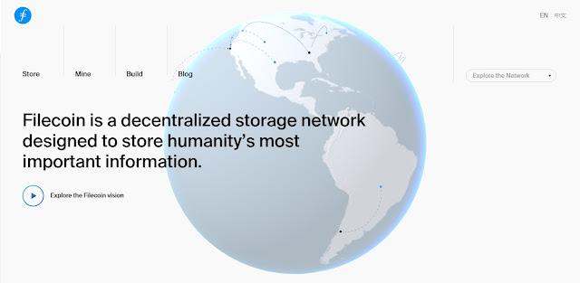 Screenshot Website Filecoin (FIL)