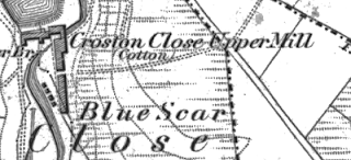 Croston Close Mill, OS map, 1848.