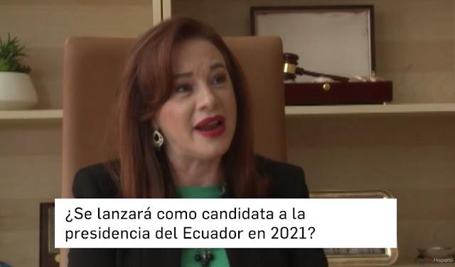 María Fernanda Espinosa candidata a la presidencia