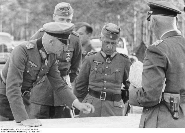 Von Bock, Hoth, Von Richtofen, Hunsdorff, 8 July 1941 worldwartwo.filminspector.com