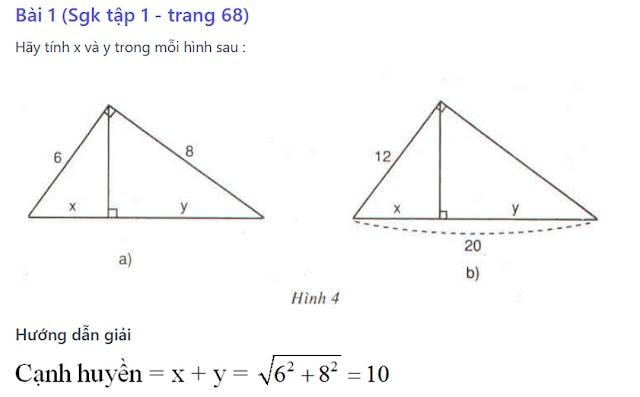 Giải bài tập sách giáo khoa toán 9 - Hình học [ Bài 1 - bài 9]