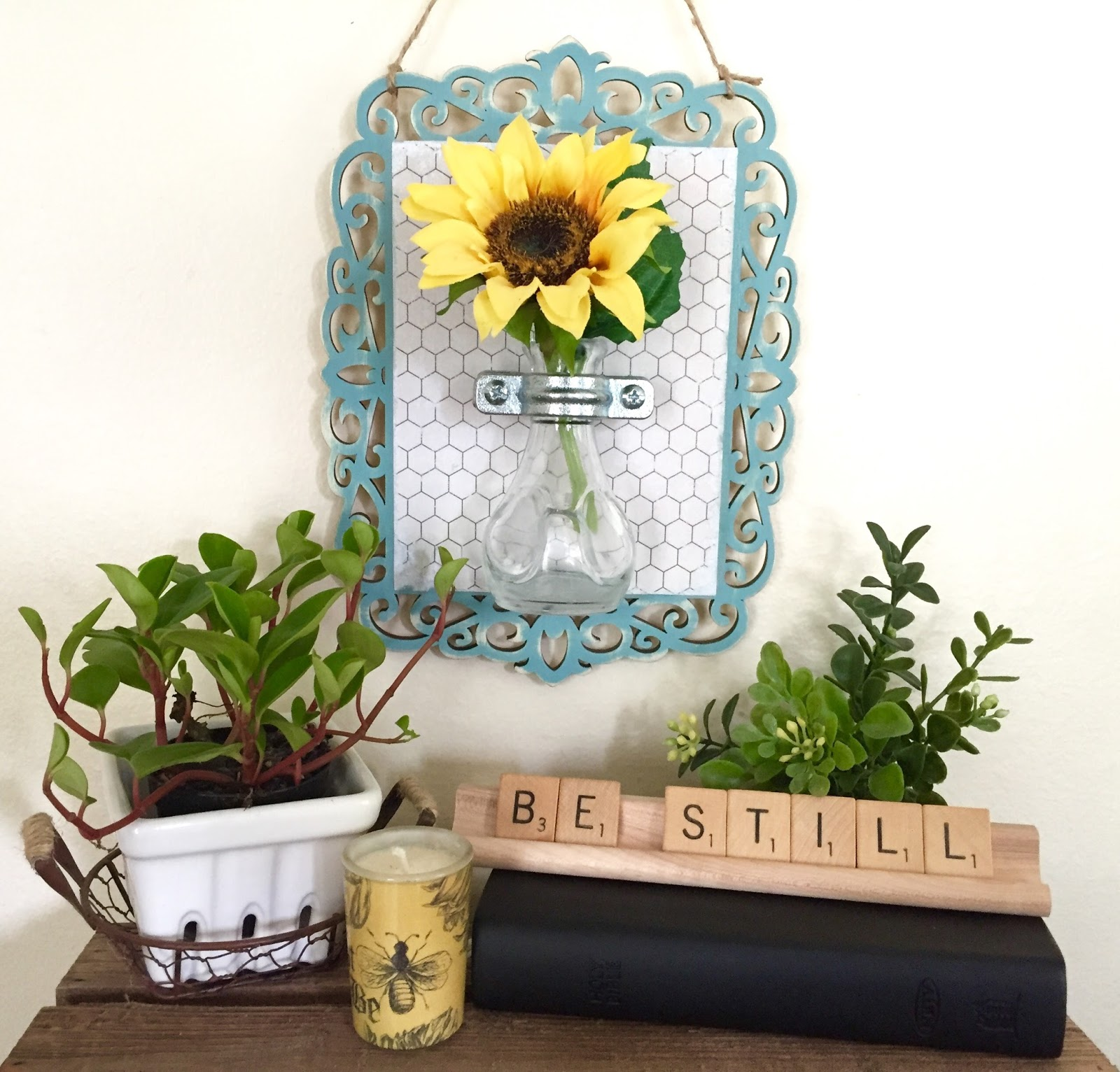 diy hanging flower vase wall sconce