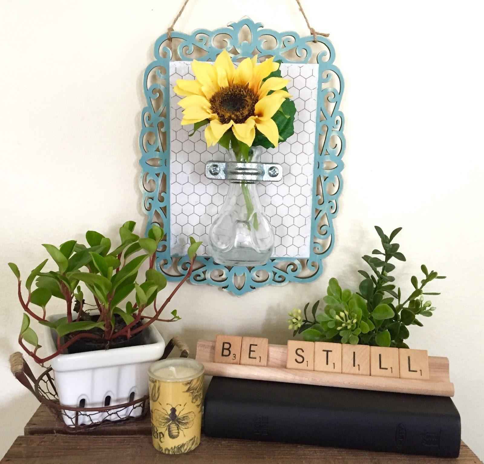 diy hanging flower vase wall sconce