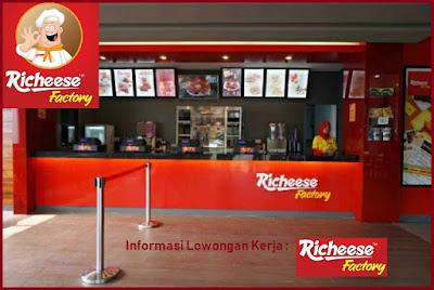 Informasi Rekrutmen Karyawan PT Richeese Kuliner Indonesia (Richeese Factory) Posisi: Crew Part Time, MT Batch XII, Etc - Periode April 2020