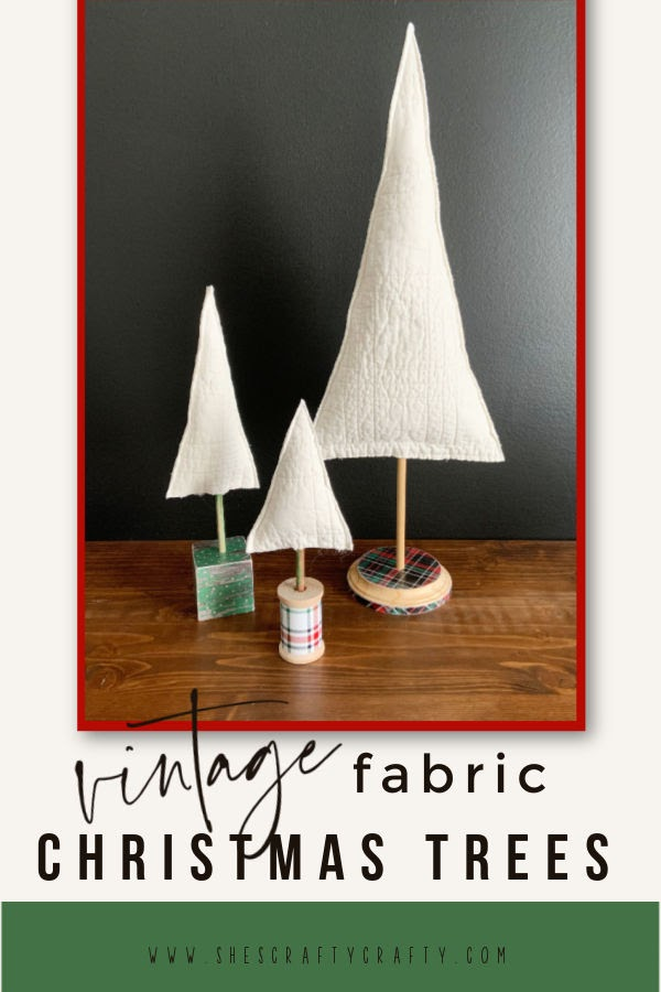 Turn a Vintage Quilt into Fabric Christmas Tree Decor