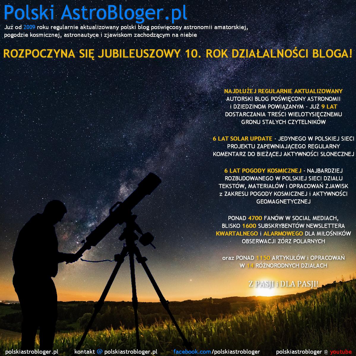 Polski AstroBloger - 9. Rocznica założenia witryny!