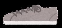 横から見た靴のイラスト(スニーカー・グレー)
