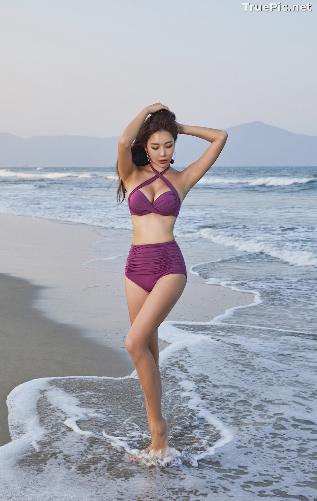 Image Park Da Hyun - Korean Fashion Model - RoseMellow Purple Bikini - TruePic.net - Picture-9