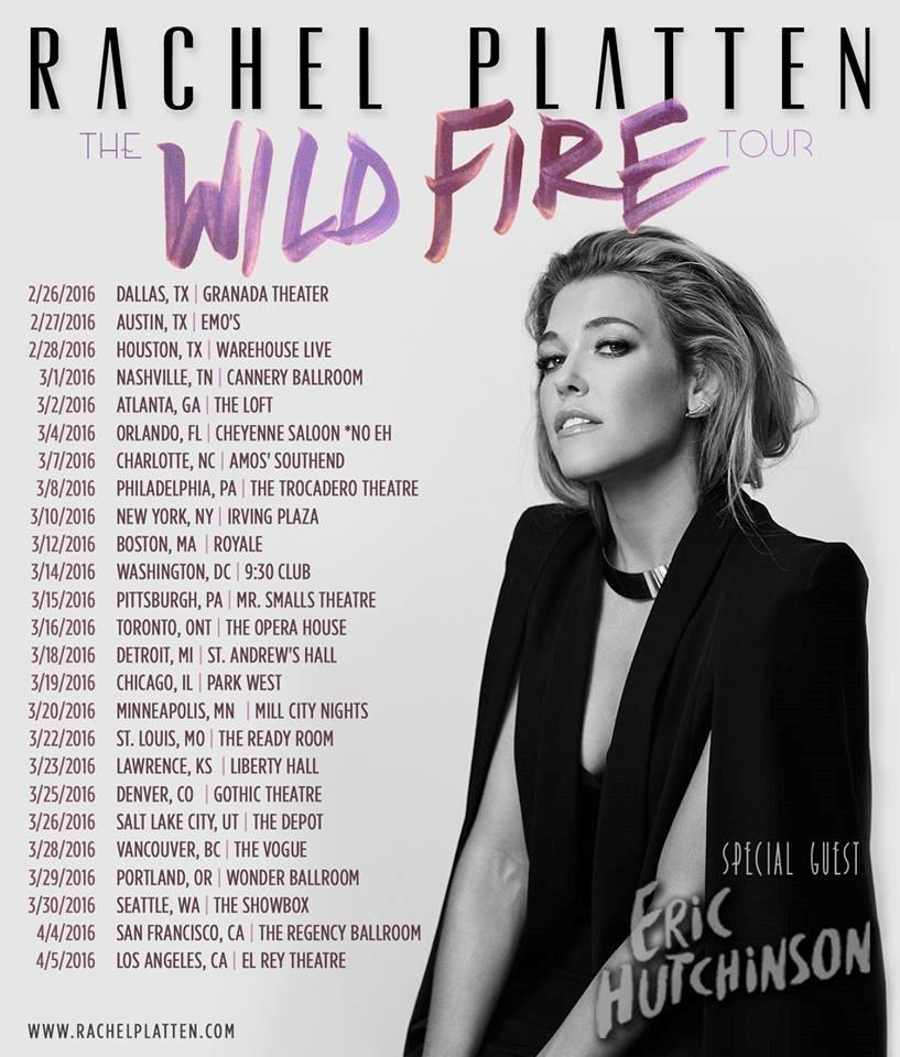 Dream Chaser: Rachel Platten - Wildfire Tour (Tour Dates)
