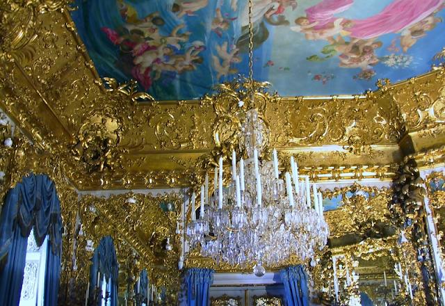 Gabinete Amarelo no Palácio de Linderhof em Munique