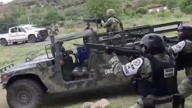 3 Militares mueren tras enfrentamiento contra El CJNG en Aguililla, Michoacán