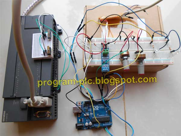 Hardware of RS485 Communication Between PLC and Arduino