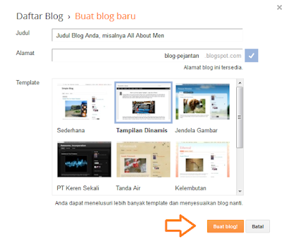 tutorial membuat blog di blogger