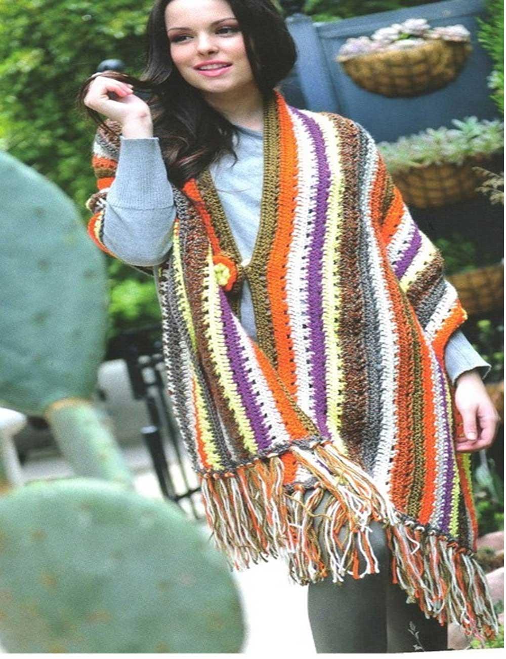 chalinas, chal, flecos, ganchillo,crochet