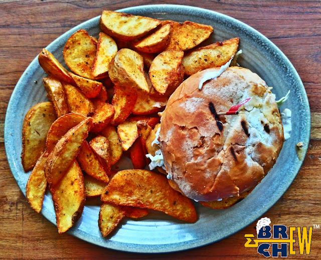 Nando's Peri-Peri flame-grilled chicken restaurant Review | Chicken Burger and Wedges