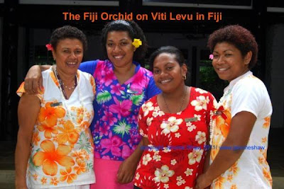 Kelera, Raijeli, Melania and Ana, the staff at the Fiji Orchid on the main island of Viti Levu in Fiji. - copyright Jerome Shaw / www.JeromeShaw.com