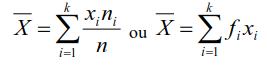 La moyenne arithmétique