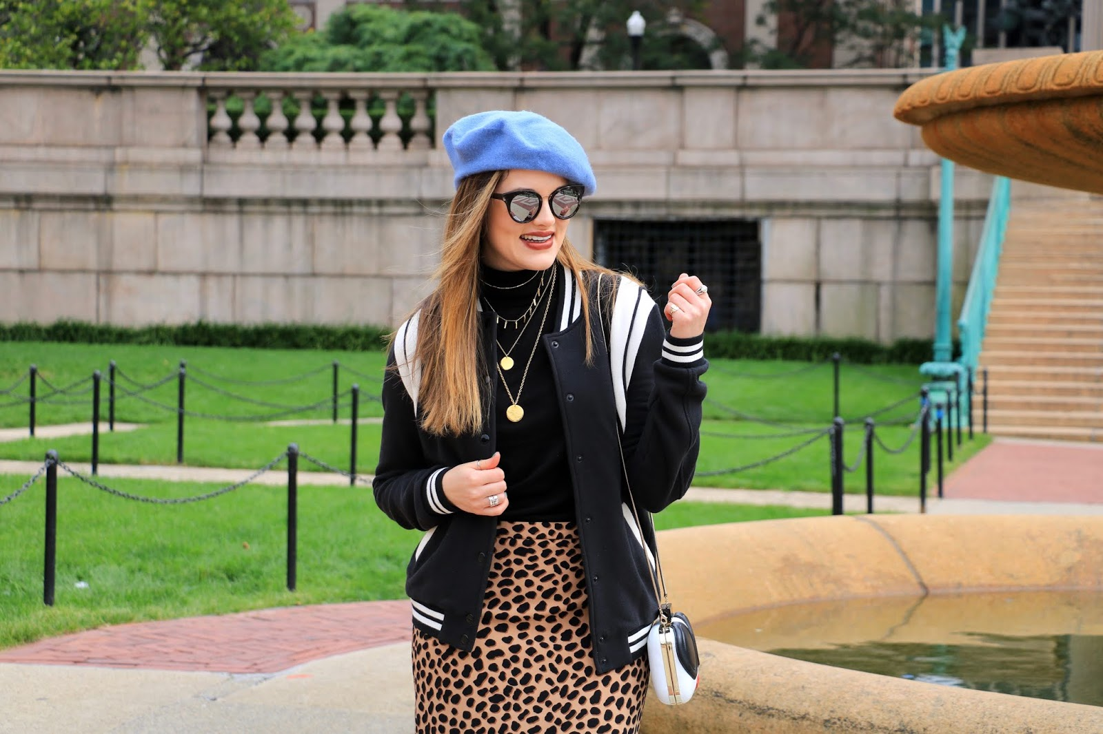 Nyc fashion blogger Kathleen Harper wearing the Popsugar at Kohl's collection bomber jacket