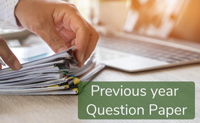 Previous question paper PDF