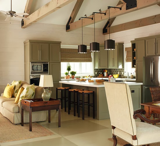 2014 tips for open living spaces decorating ideas - Open kitchen and living room ideas ...