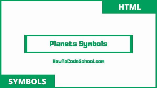 planets symbols unicodes and html codes