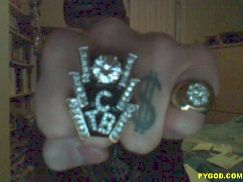 PYGOD.COM Elvis TCB ring