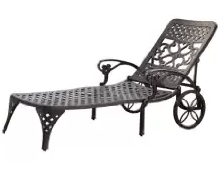 JHome Styles Biscayne Chaise Lounge Chair