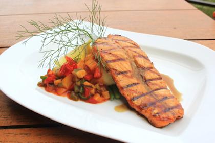 Recipe for Salmon With Ratatouile
